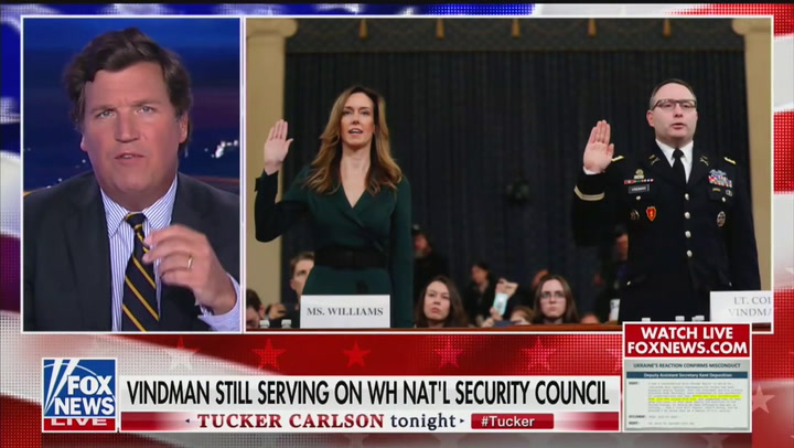 Tucker Carlson and Devin Nunes Tell Alexander Vindman to 'Take a Hike' and 'Go Work in Ukraine'