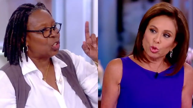 Watch the screaming match between Whoopi Goldberg and Judge Jeanine