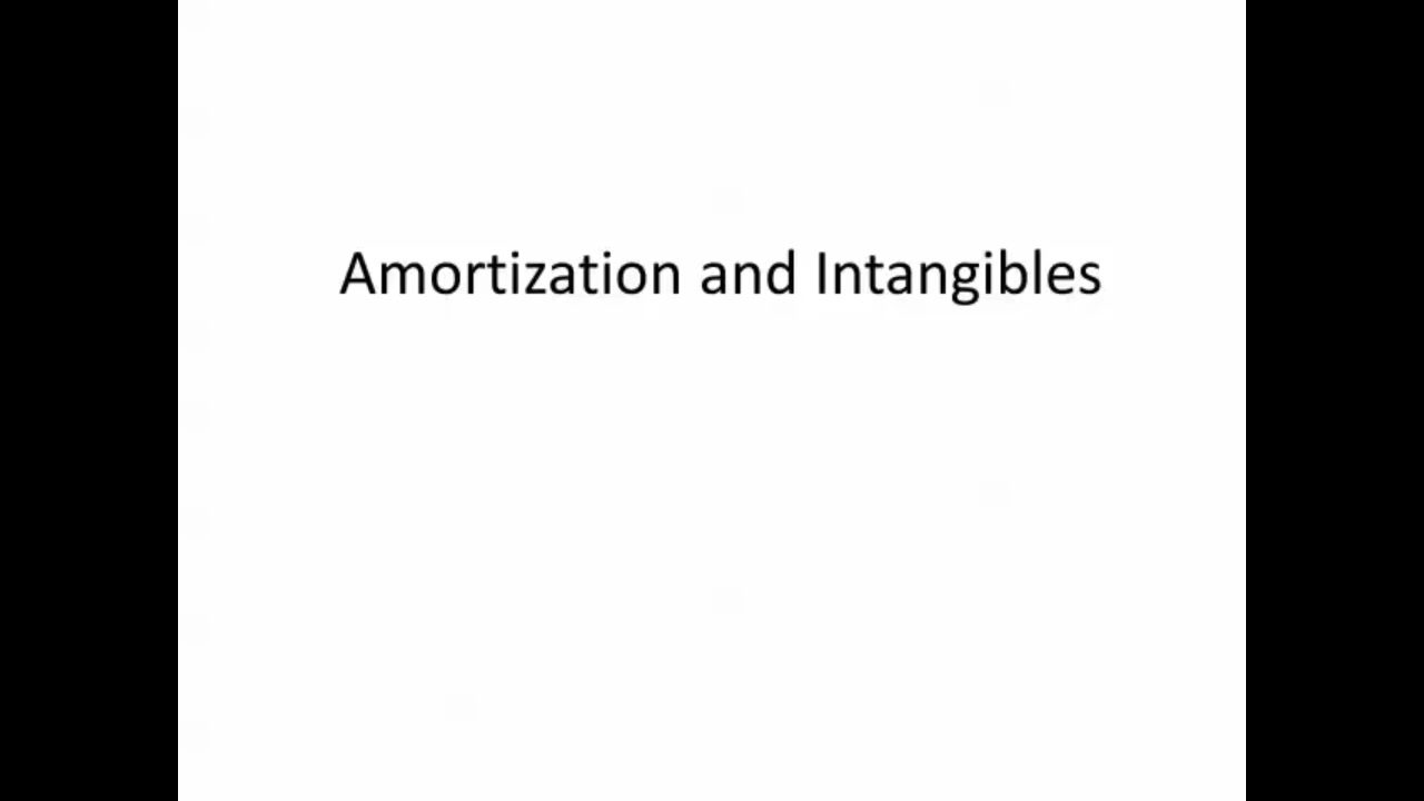 Amortization Software And Section 197 Intangibles Video