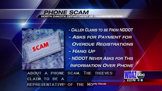 New phone scam, caller telling people registrations are overdue