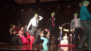 MAHS Homecoming king candidates dance contest