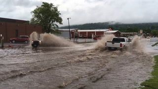 Flooding on 27th Avenue West in Duluth