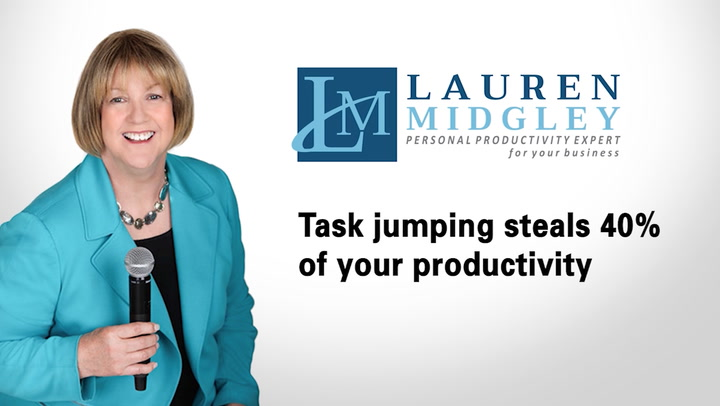 Task jumping steals 40% of your productivity