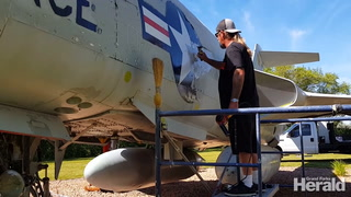Historic Planes get a face lift at the Grand Forks Air Force Base