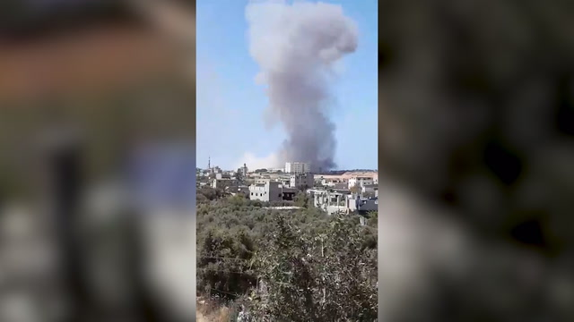 Smoke seen rising after violence in Israel, Gaza