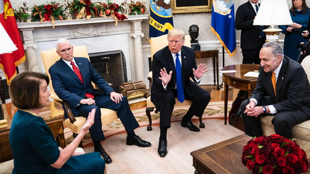 Fact-checking Trump, Pelosi and Schumer's oval office showdown