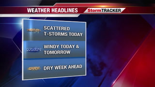 StormTRACKER Saturday Weather Update