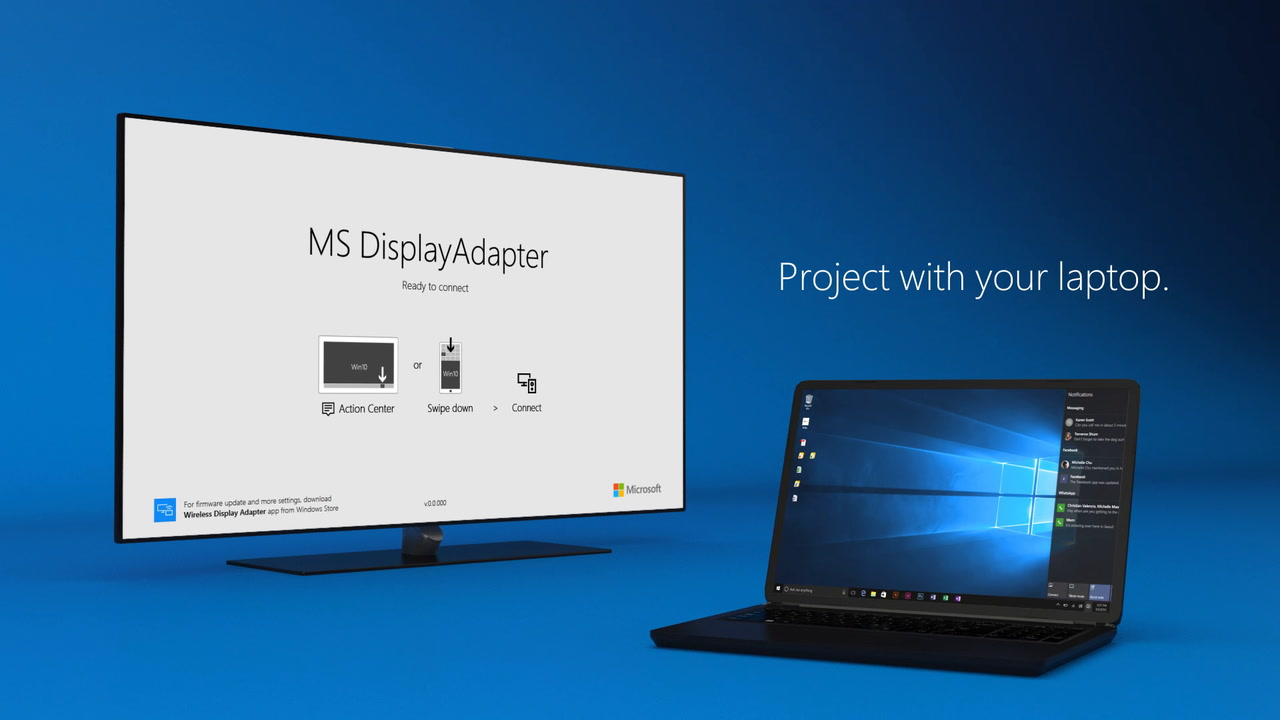 Microsoft wireless display adapter v2 see it all on your big screen xflitez Images