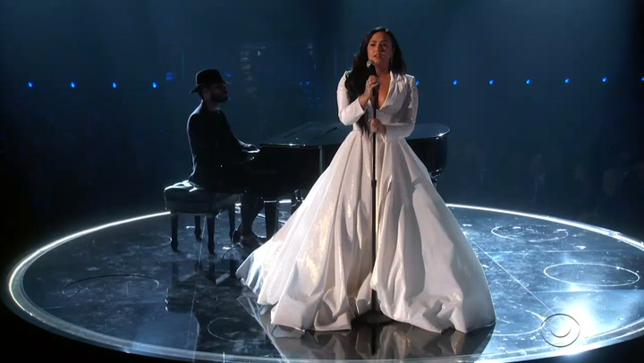 Demi Lovato Cries Through Comeback Performance at 2020 Grammys After Overdose: Watch