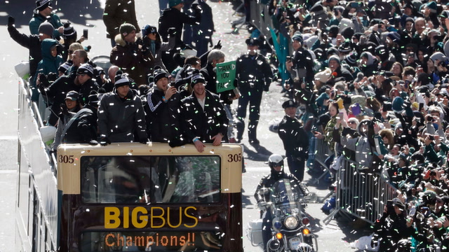 'We wanted it more': Philadelphia celebrates Super Bowl win