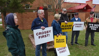 Crosby Mayor Turmoil Sparks Dueling Protests