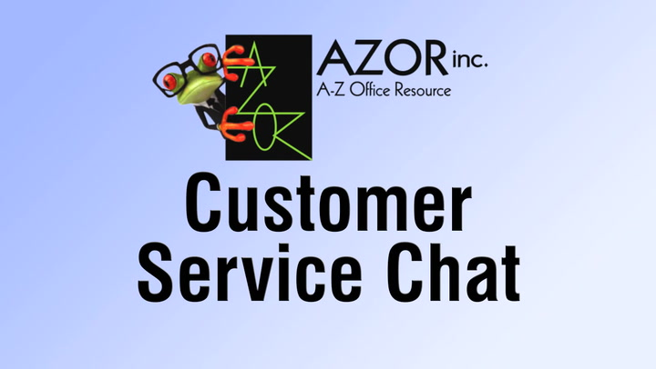 Customer Service Chat at shop.AZORinc.com
