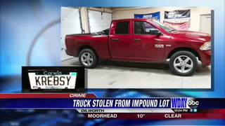 This is a photo of the truck Dilworth police say was stolen from a police impound lot in Moorhead on Friday, March 10. Special to The Forum