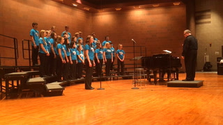 Kennedy Hill sings in the eighth grade girls choir.