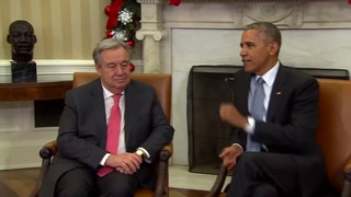 President Barack Obama meets with new UN chief