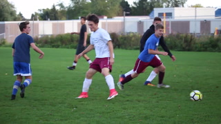 Timeout with Duluth Denfeld boys soccer team