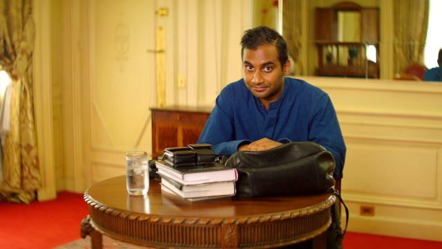 Aziz Ansari Shows Us What's in His Carry-On