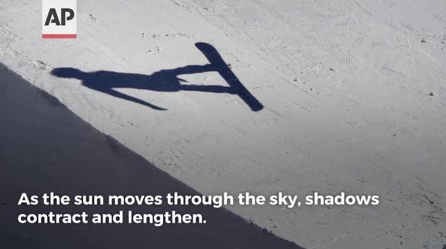 Dramatic Shadows and Light At Winter Olympics