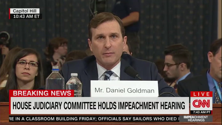 Watch: Democrats' Intel counsel summarizes the case for impeaching Trump in under 5 minutes