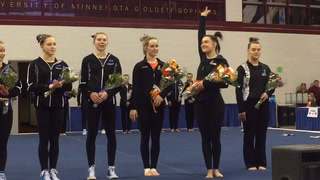 Farmington and Rosemount at state gymnastics