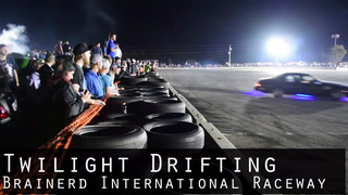 Twilight Drifting Brainerd International Raceway