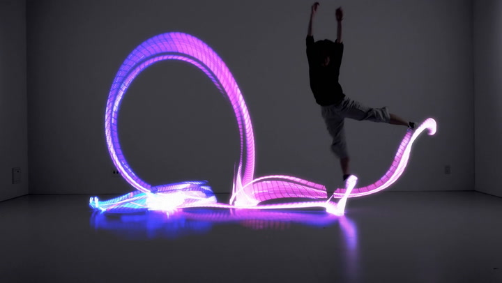 Light Up The Room With Your Dance Moves In These LED Shoes
