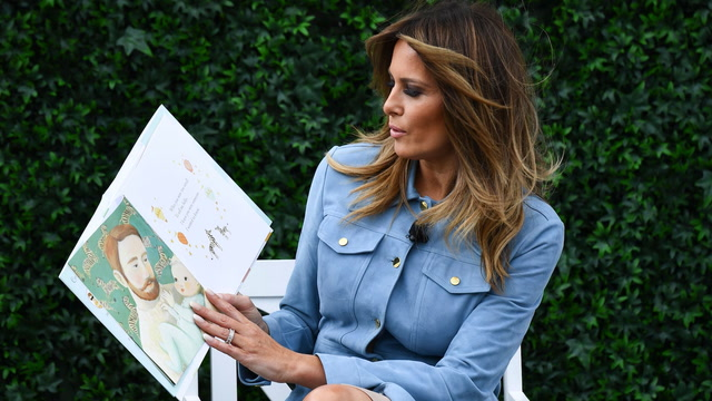 Melania Trump reads to kids during annual Easter Egg Roll