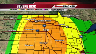 Strong/Severe Storms Possible Later Today