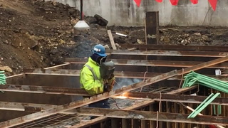 Red Wing Bridge construction - March 27, 2018