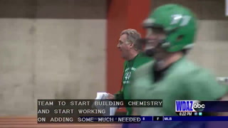 UND football hitting the practice field again