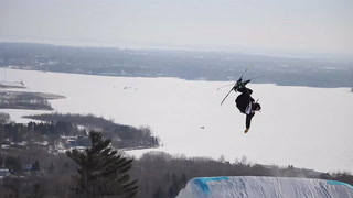 Slopestyle ski competition at Spirit Mountain
