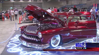 Car extraordinaires from all over the Midwest gathered in Grand Forks Sunday