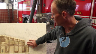 Duluth man gifts marble carving to firefighters who responded to his crash