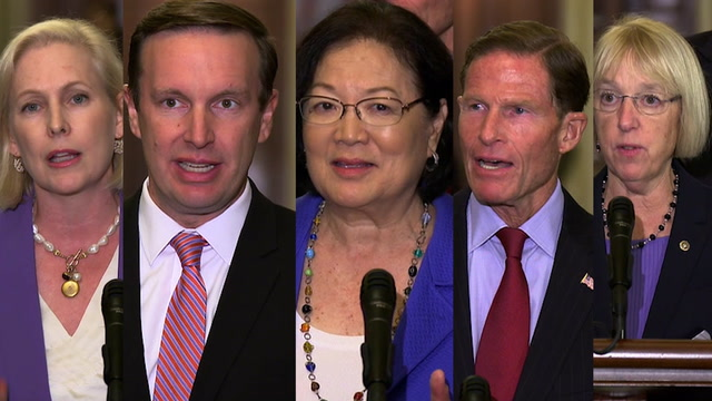 Democrats denounce Kavanaugh, Ford hearing date