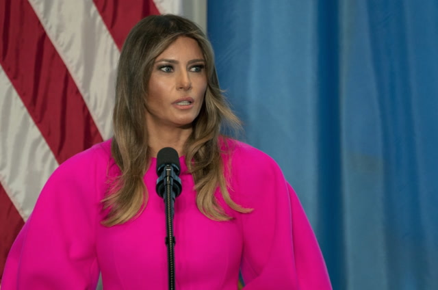 Melania Trump discusses bullying at U.N. luncheon
