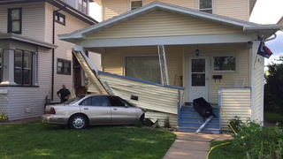 Car crashes into home in Superior