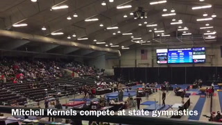 Mitchell Kernels compete at state gymnastics