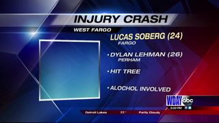 Two men seriously injured in West Fargo crash, charges pending