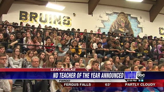 Leah Juelke, an English Language instructor at Fargo's South High School, was named the 2018 North Dakota Teacher of the Year on Thursday, Sept. 28, 2017. Dave Wallis / The Forum