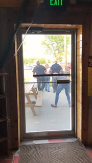 A patron of the Northsider bar in Moorhead took this image of an arrest that was made at the bar Friday evening, Aug. 3. Moorhead police said two officers were assaulted after they responded to a call about a disturbance at the business. Special to The Forum