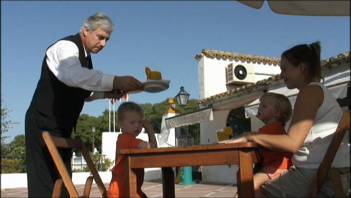 Sign in to access video: Life in Spain: Spanish cafe
