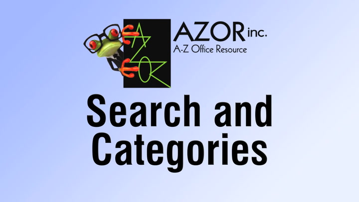 Search & Categories at shop.AZORinc.com