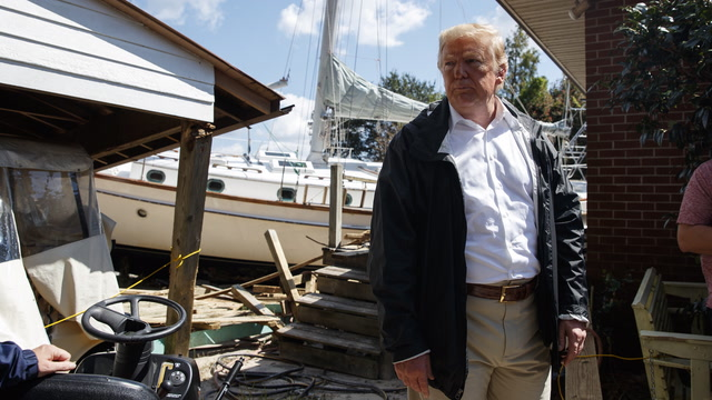 Trump tours aftermath of Florence in North Carolina