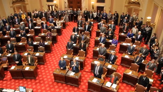 Majority Leader Gazelka addresses Senate at start of session