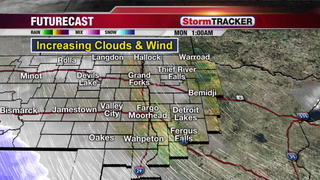 Tracking Snow and Blowing Snow for Monday