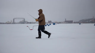 Anglers take advantage of rare opportunity to ice fish on Lake Superior