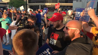 Protesters clash with Trump supporters after rally