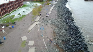 Drone footage of storm damage in Duluth