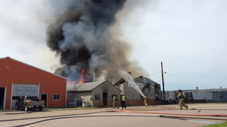 Fire at Dyke's Auto Salvage