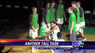 UND men's basketball with another tall task against Gonzaga tomorrow